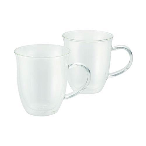 Coffee, 2-Piece Set, 6-Ounce, Insulated Borosilicate Glass Espresso Cups