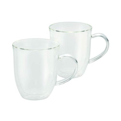 Coffee, 2-Piece Set, 12-Ounce, Insulated Borosilicate Glass Latte Cups