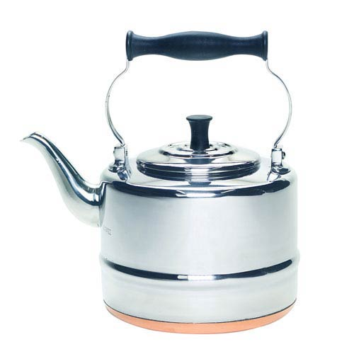 Tea, 2-Quart, Stainless Steel and Copper-Base Gooseneck Teapot and Teakettle, 2-Quart