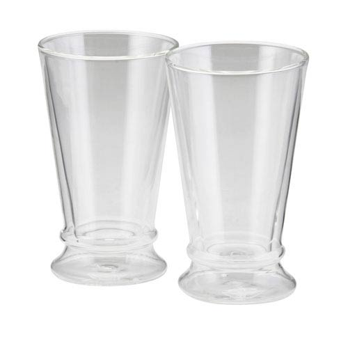 Coffee, 2-Piece Set, 12-Ounce, Insulated Borosilicate Glass Latte Glasses