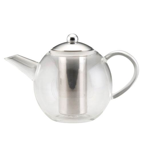 Tea Hand-blown Borosilicate Insulated 23.7-Ounce Glass Teapot