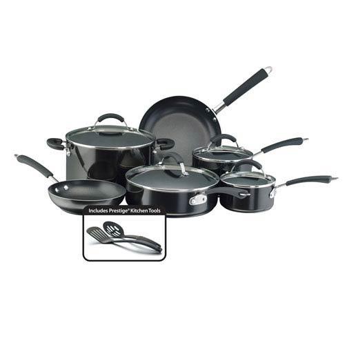 Farberware Nonstick Black Aluminum 12-Piece Cookware Set