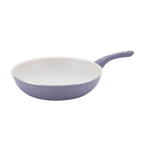 New Traditions Speckled Aluminum Nonstick Lavender 12.5-Inch Skillet