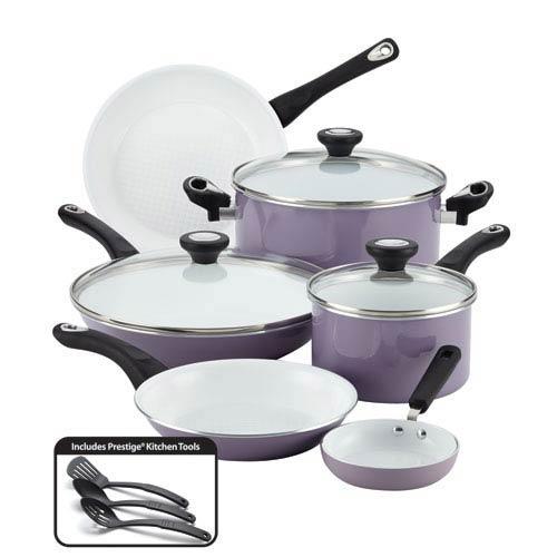 Nonstick Ceramic Lavender 12-Piece  Set