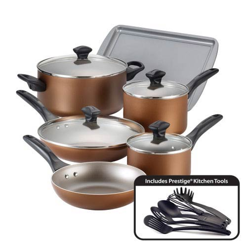 Nonstick Copper Aluminum 15-Piece Cookware Set
