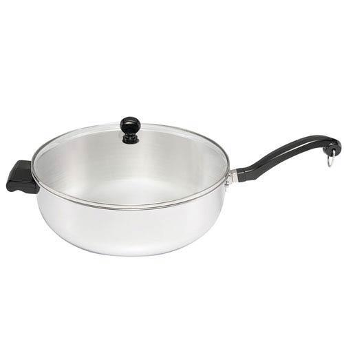 Farberware Classic Series Stainless Steel Jumbo 6-Quart Covered Chefs Pan
