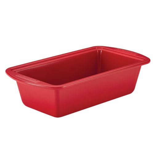 Red Ceramic Nonstick Steel  9-Inch x 5-Inch Bread and Meat Loaf Pan
