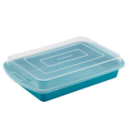 Blue Ceramic Nonstick 9-Inch x 13-Inch Covered Cake Pan