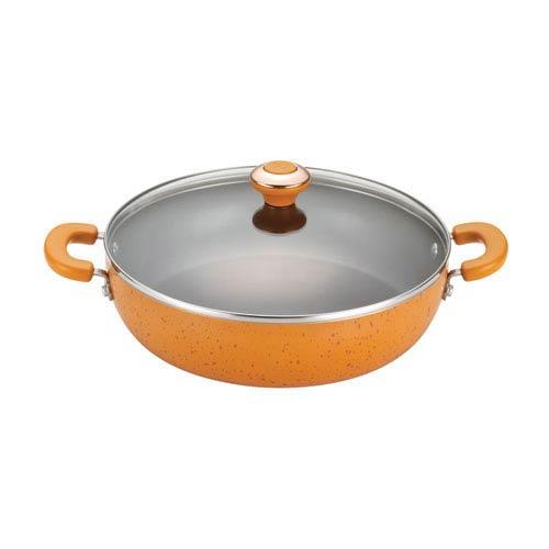 Porcelain Orange Nonstick 12-Inch Covered Chicken Fryer