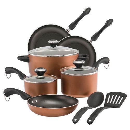 Copper 11-Piece Cookware Set