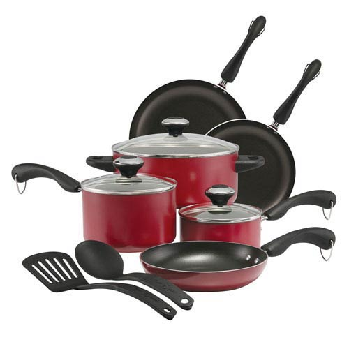 Red 11-Piece Cookware Set