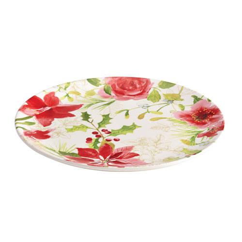 Holiday Floral 12-Inch Round Platter