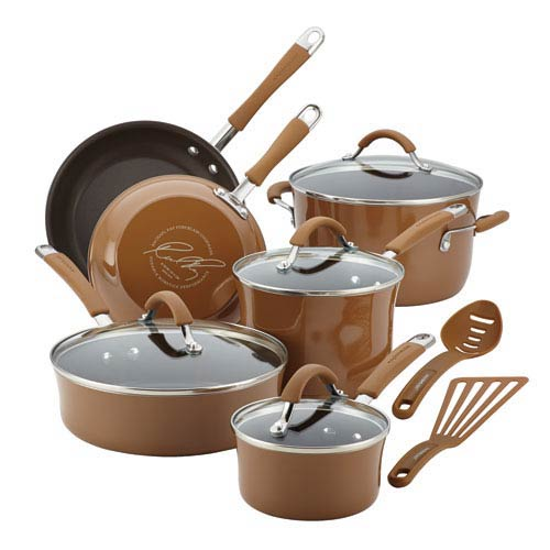 Cucina, Brown Porcelain 12-Piece Set