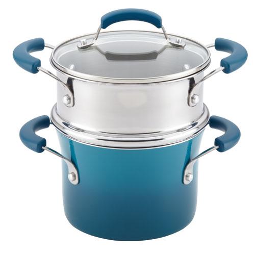 Blue, 3-Quart Sauce Pot and Steamer Insert Set