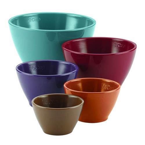 Cucina, Multicolor 5-Piece Measuring Cup Set