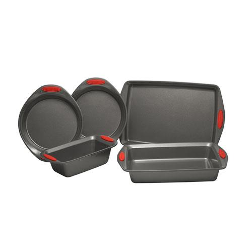 Red Yum-o Nonstick Oven Lovin Five-Piece Bakeware Set