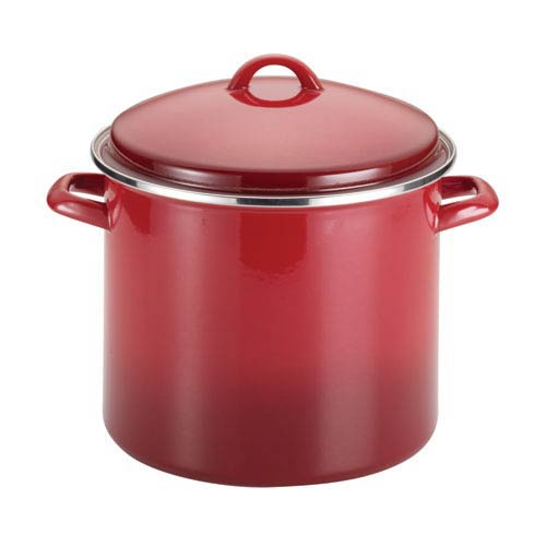 Red 12-Quart Covered Stockpot