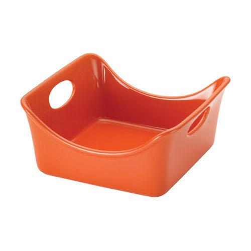 Rachael Ray Square 2-Quart Orange Baker