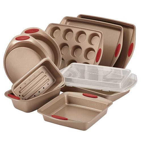 Cucina, Brown and Red 10-Piece Set