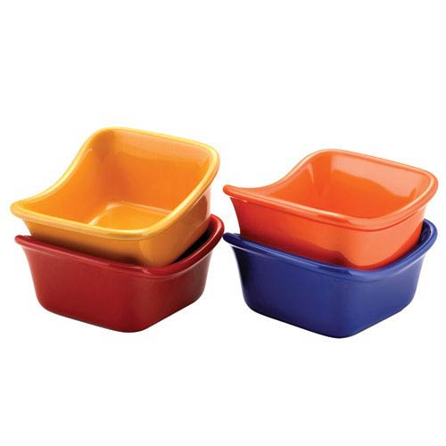 Multicolor Lil Saucy Squares Dipping Cups Set