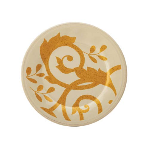 Gold Scroll, Ivory 8-Inch Salad Plate