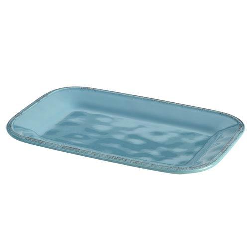 Cucina, Blue 8-Inch x 12-Inch Rectangular Platter