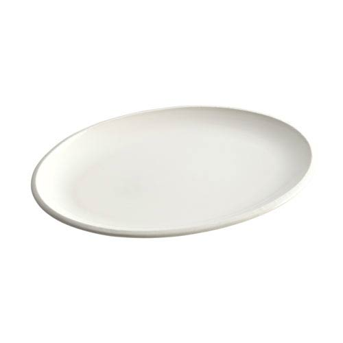 Rise White 9-Inch x 13-Inch Oval Platter