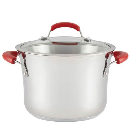 Stainless Steel 6.5-Quart Covered Stockpot