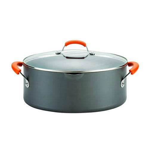 Gray and Orange 8-Quart Oval Pasta Pot