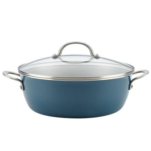 Home Collection Twilight Teal 7.5-Quart Porcelain Enamel Nonstick One Pot Meal Stockpot