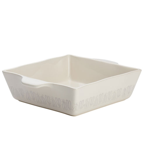 Home Collection French Vanilla 8 x 8 In. Stoneware Square Baker
