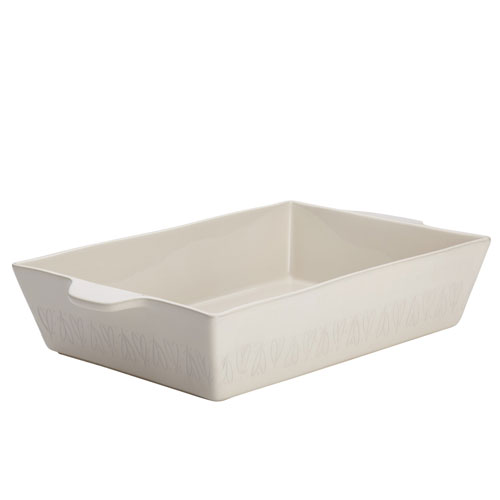 Ayesha Curry Home Collection French Vanilla 9 x 13 In. Stoneware Rectangular Baker