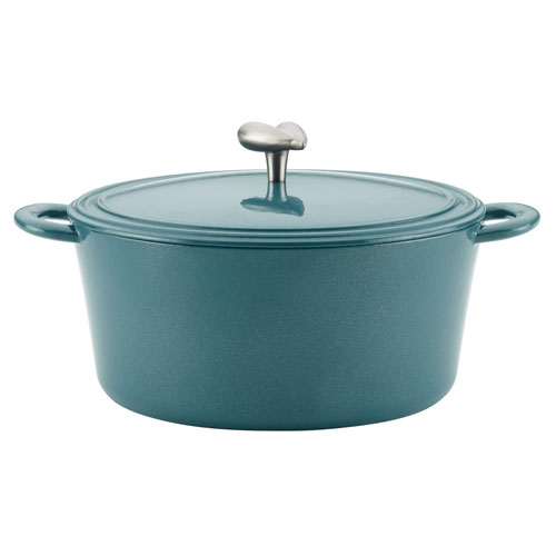 Twilight Teal Cast Iron 6-Quart Enamel Covered Dutch Oven