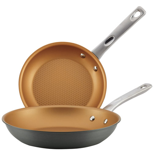 Home Collection Hard Anodized Aluminum Skillet Twin Pack