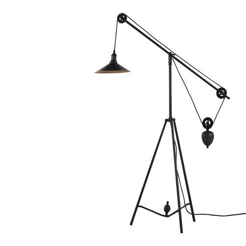 Jasper Antique Black Gold One Light Floor Lamp