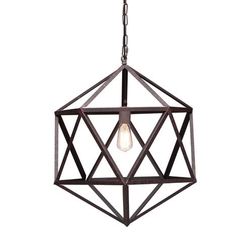 Zuo Modern Contemporary Amethyst Rust One Light Small Pendant