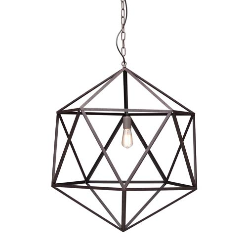 Zuo Modern Contemporary Amethyst Rust One Light Large Pendant