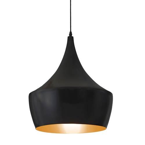 Copper Matte Black One Light Pendant