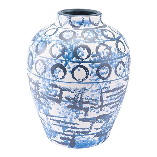Ree Medium Vase Blue and White