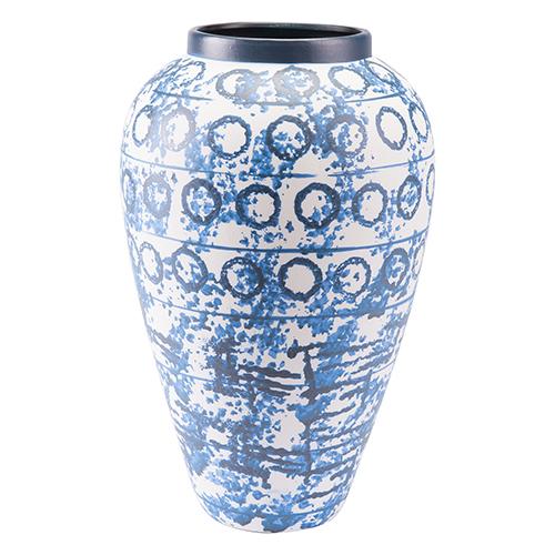 Ree Large Vase Blue and White