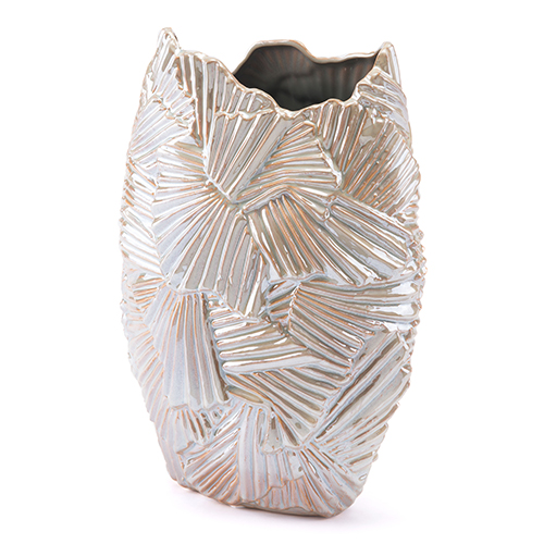 Palm Medium Vase Pearl 2