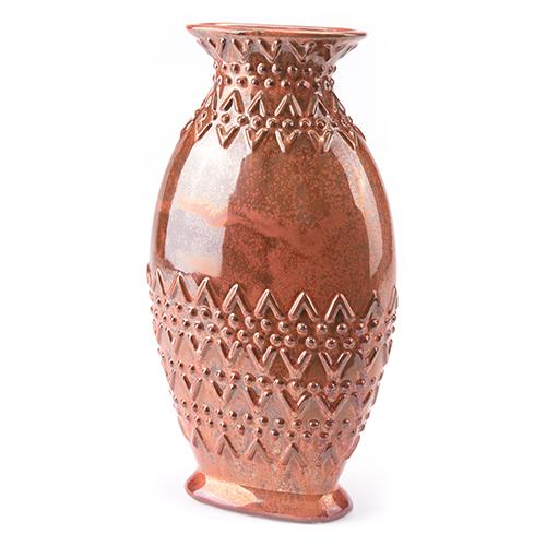 Toltec Large Vase Red
