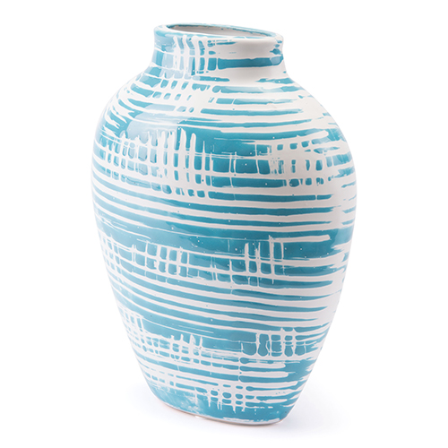 Zuo Modern Contemporary Washed Small Vase Blue and White