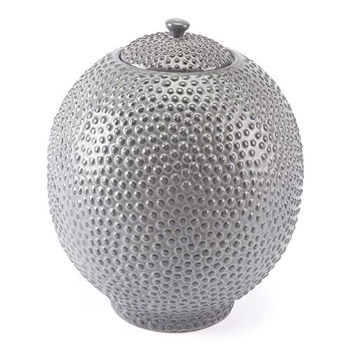 Round Jar Large Gray