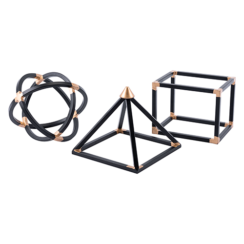 Zuo Modern Contemporary Geo Shapes Set of 3 Black