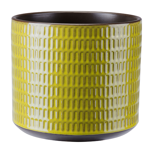 Cylinder Planter Large Olive Green