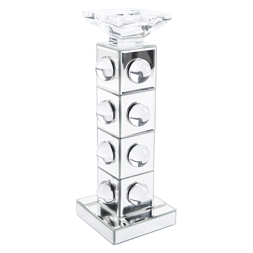 Zuo Modern Contemporary Mirrored Candle Holder Large MirrorandLucite