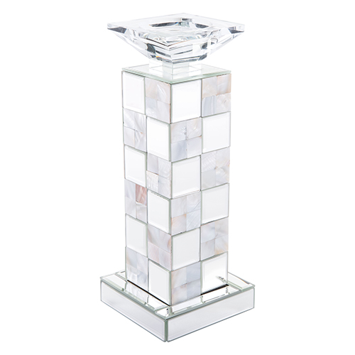 Squares Candle Holder Small Mirror and Mop