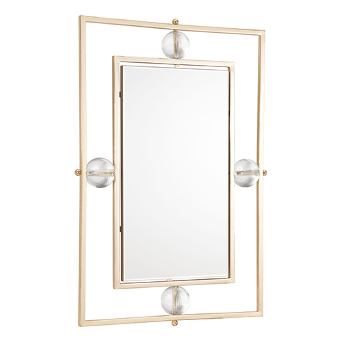 Zuo Modern Contemporary Floating Rectangle Lucite Mirror M and L