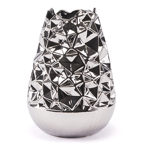 Zuo Modern Contemporary Line Vase Large Silver